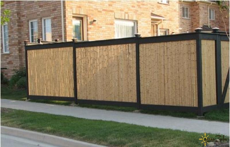 creating a backyard getaway with bamboo privacy fence. Black Bedroom Furniture Sets. Home Design Ideas