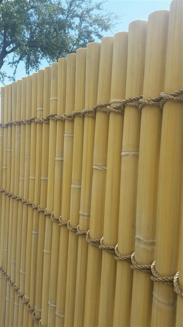 Synthetic bamboo fence front large amazulu