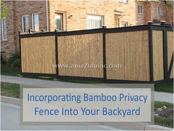 bamboo fence screening