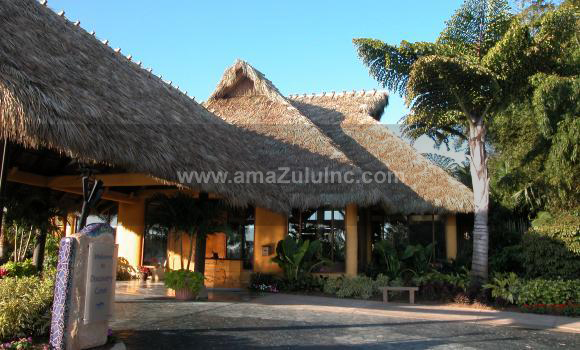 Palm Thatch installed at theme park