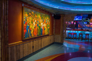 Image of entrance to Mango's Tropical Cafe with Bamboo from amaZulu, Inc. in Orlando, FL.