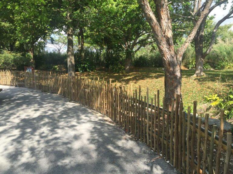 Image of Eucalyptus fence from amaZulu, Inc. at Miami Zoo