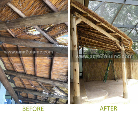 thatch roof replacement