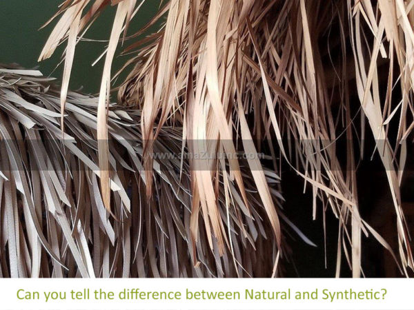 Natural vs. Synthetic Thatch