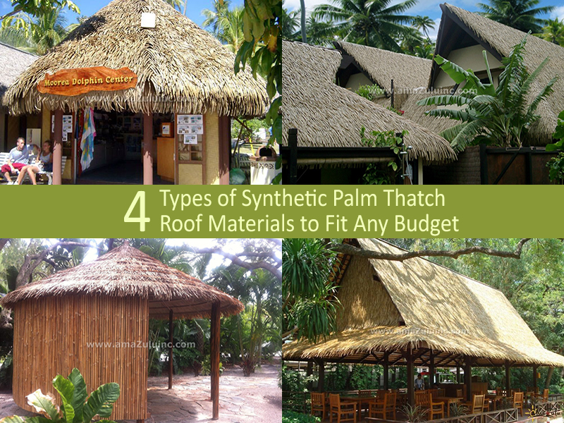 Synthetic Palm Thatch Roof Materials