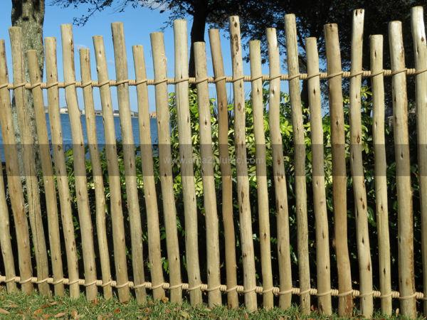 Rustic Eucalyptus Fencing