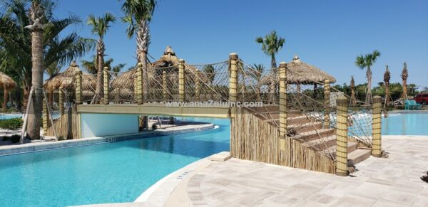 Resort Style Pool Bridge