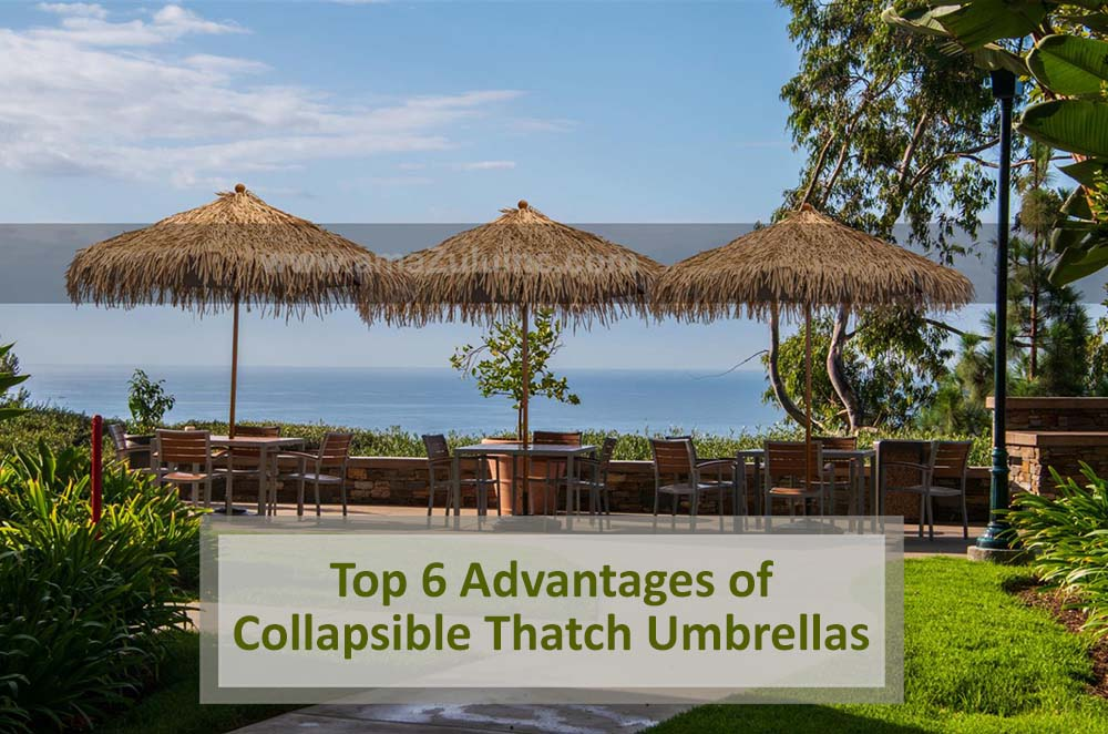 Collapsible Thatch Umbrellas