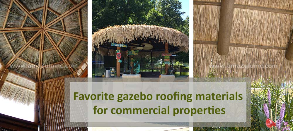 gazebo roofing materials