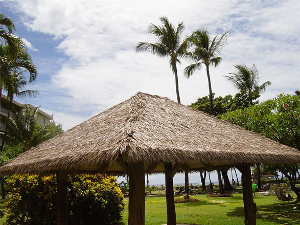 Synthetic Palm Thatch Roofing