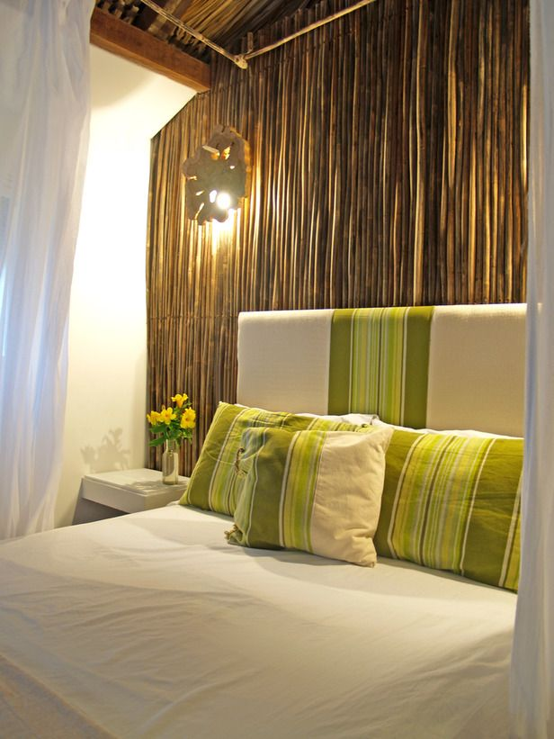Bamboo Pole Headboard