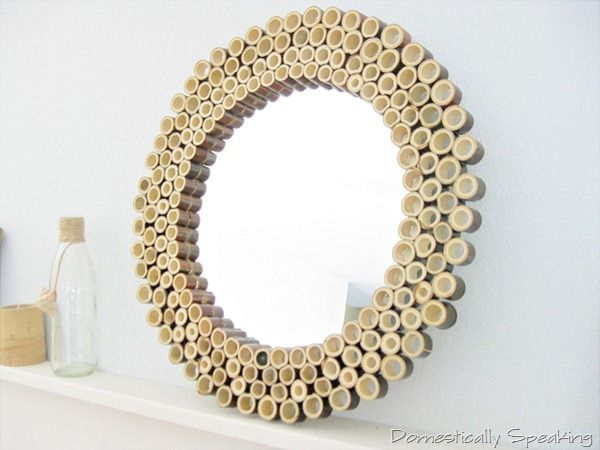 Cut Bamboo Pole Mirror